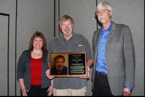 Bob Elliott, & Charlene Jewell presenting  Joe Smilanick with Salter Award